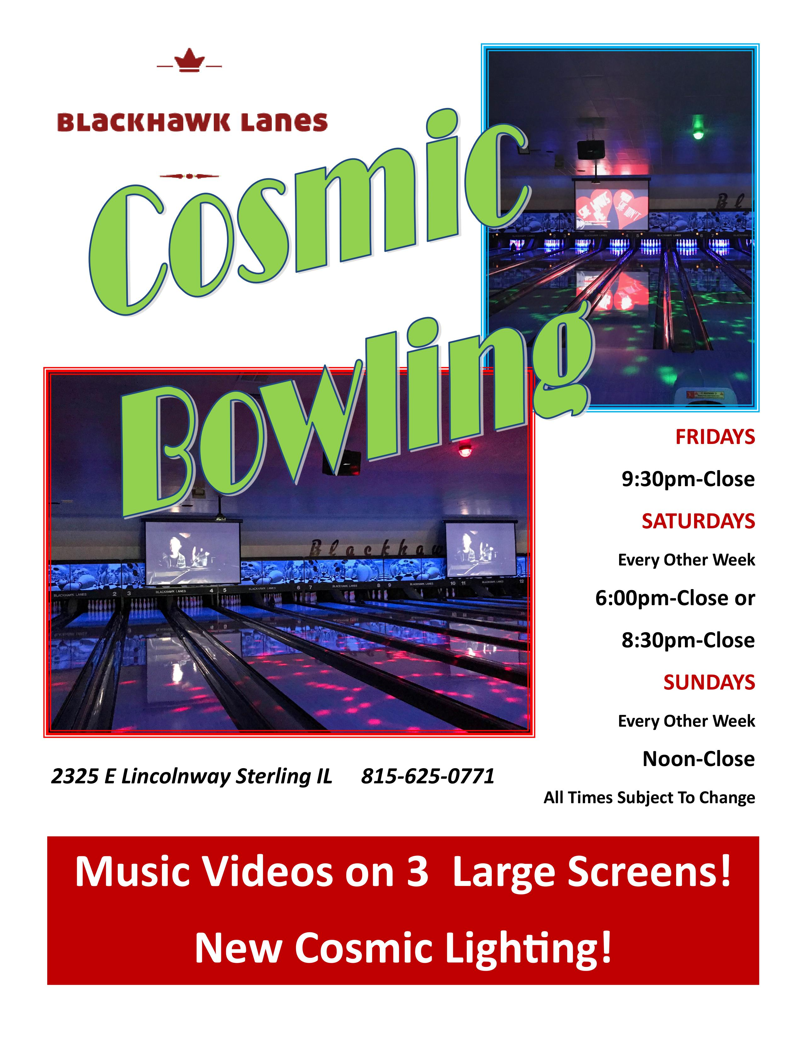 Cosmic Bowling Information